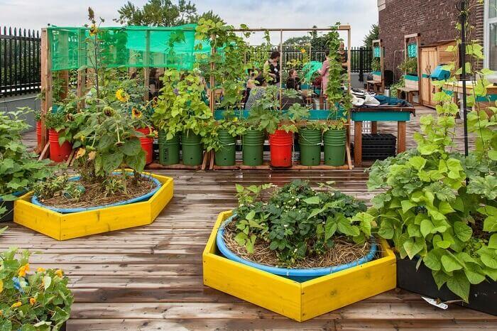 Inspirasi taman untuk bakon rumah  rooftop