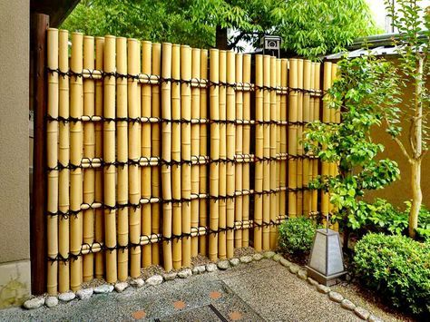 Pagar Minimalis Bambu