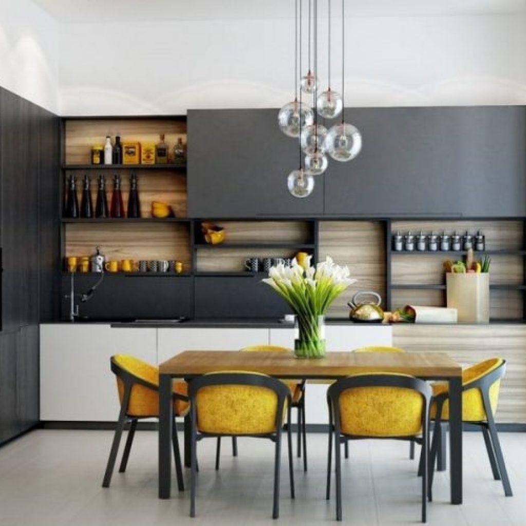 kitchen set minimalis gaya alam