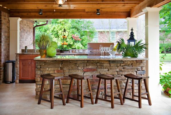 Model dapur terbuka (Outdoor)