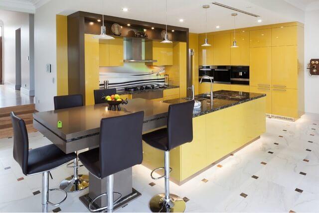 kitchen set minimalis terang