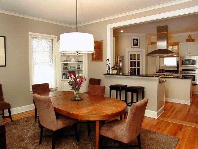 dapur minimalis dan ruang makan