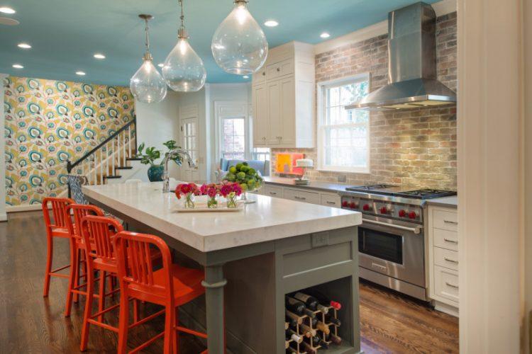 desain dapur cerah untuk rumah