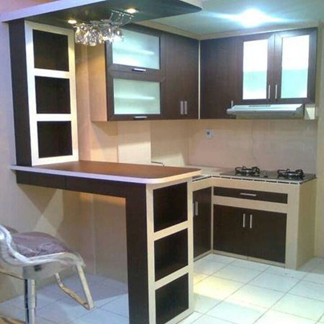 simple kitchen set mini bar