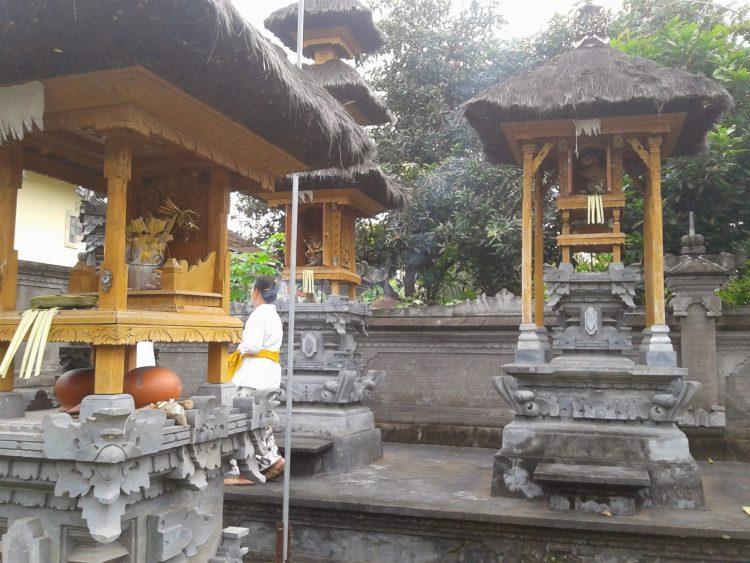 Rumah adat Bali Merajan atau Sanggah