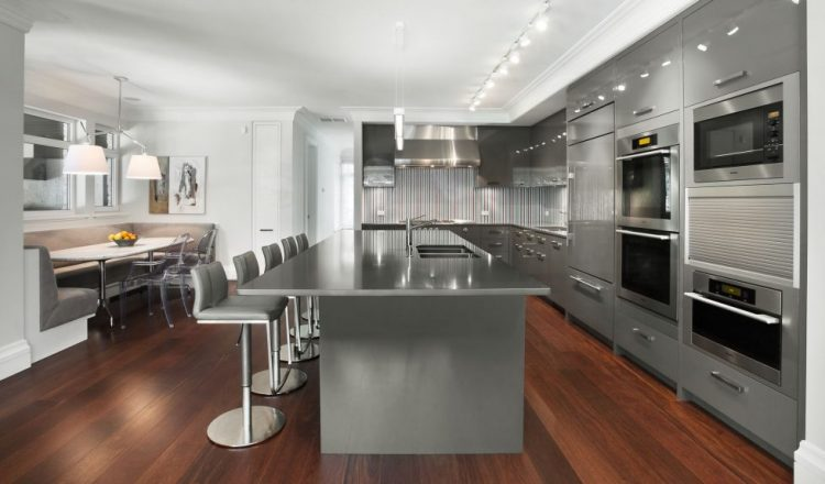 stainless kitchen set