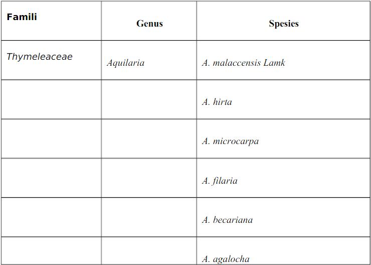 klasifikasi gaharu