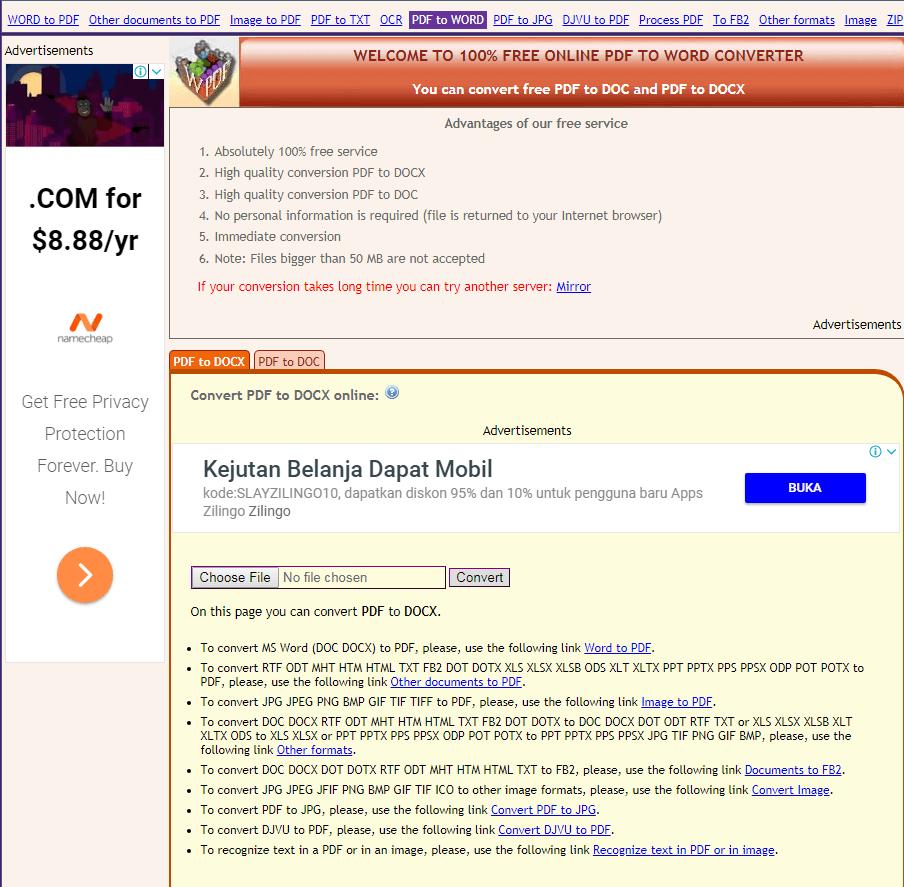 Merubah pdf ke word Online Tanpa Software