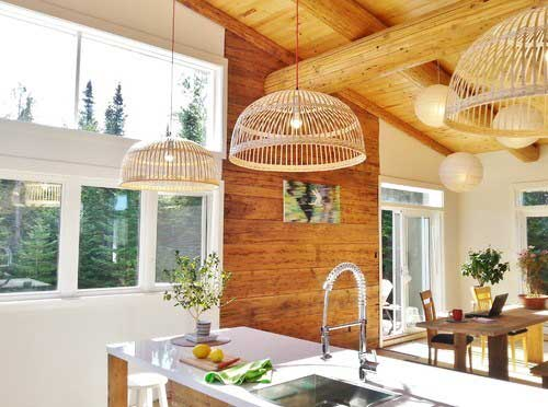 Rustic home decor country farmhouse style kitchen