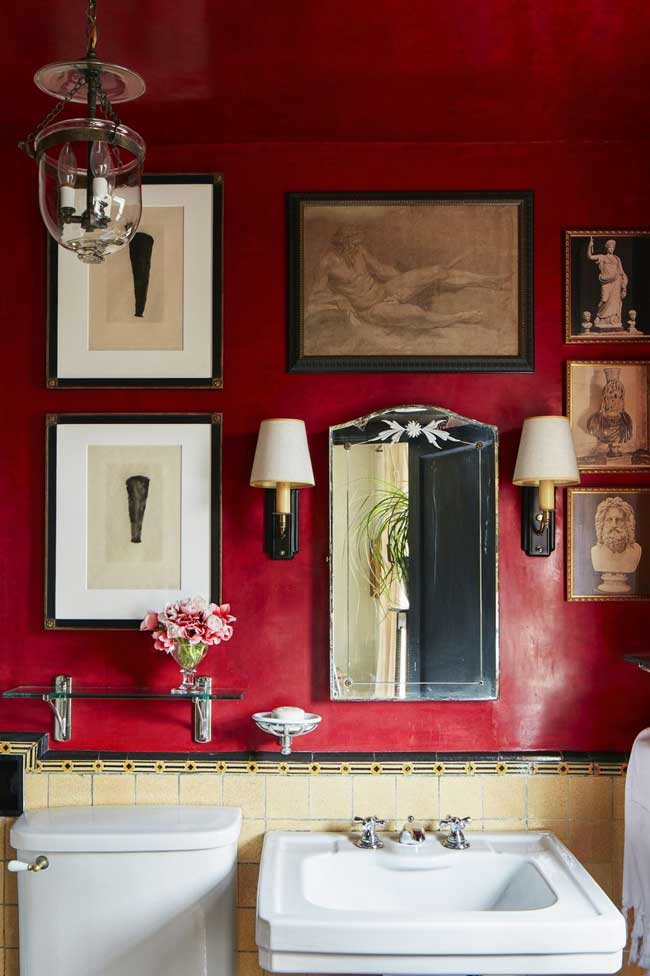 Ciling room decor ideas   Vivid Red