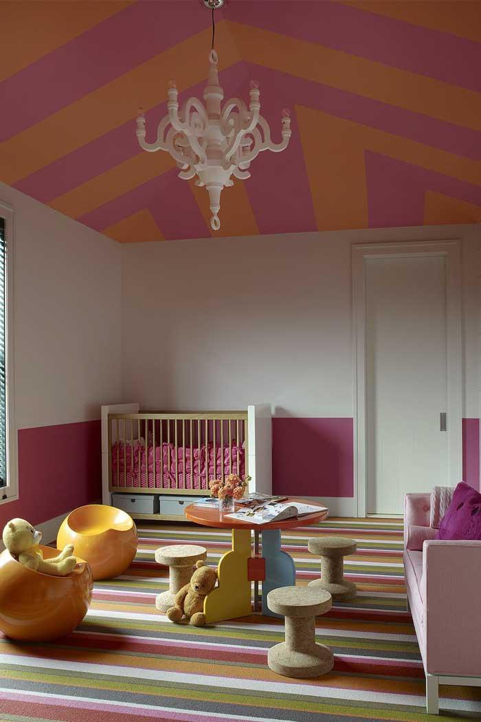 Ceiling room Pink and Orange Simponi