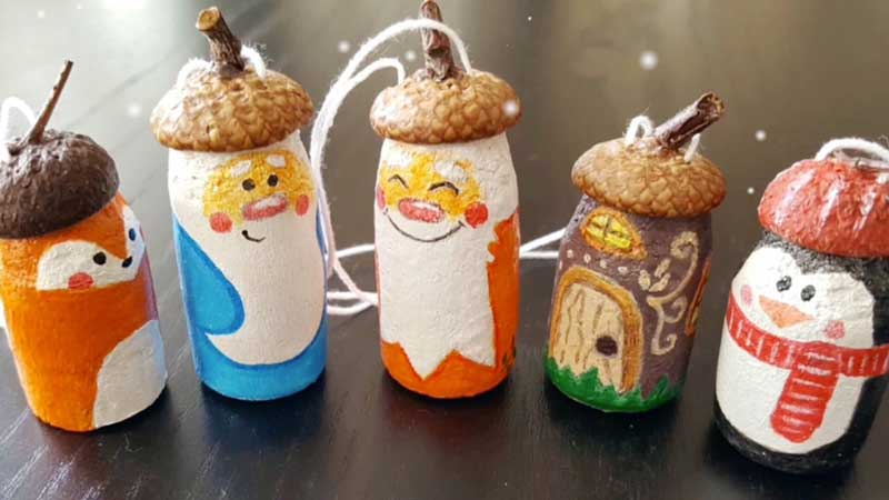 DIY Cute Bottle Cap Snowman Ornaments