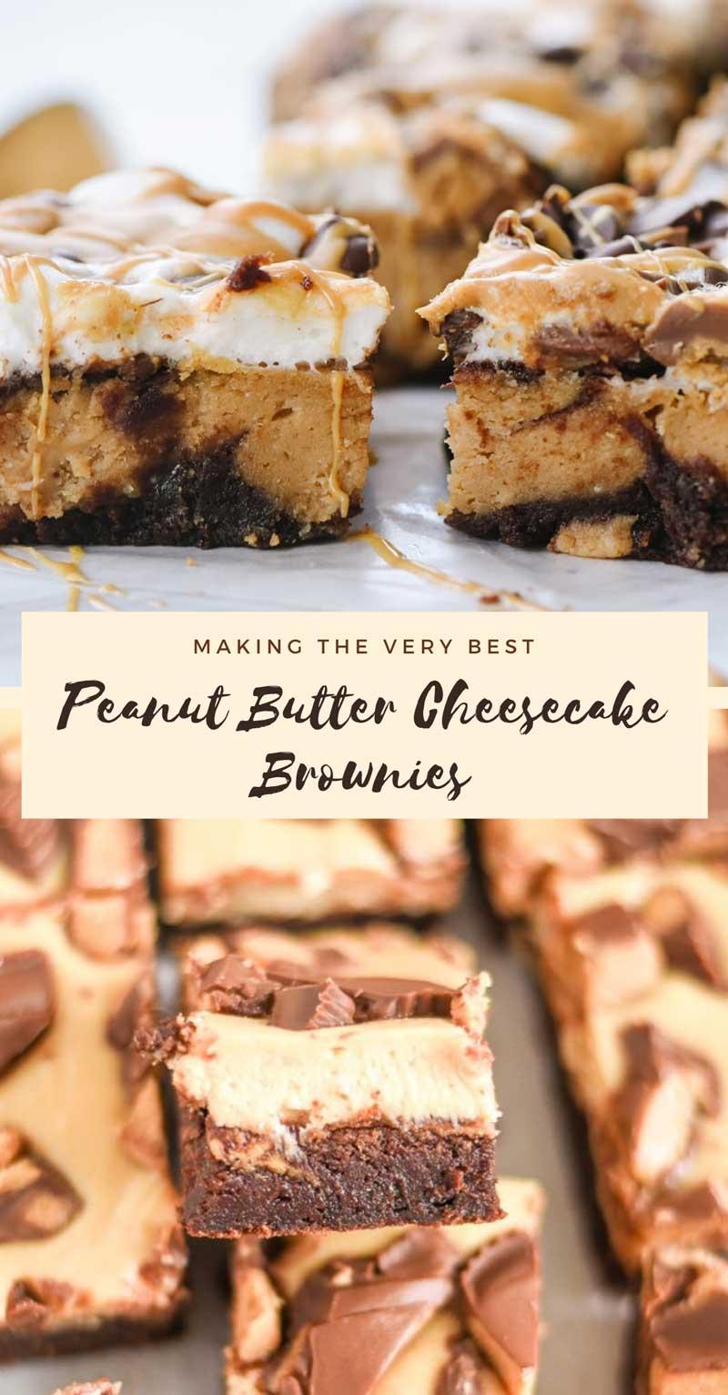 Peanut Butter Cheesecake Brownies Recipes Ideas Pinterest