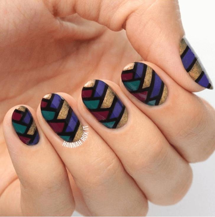 Iridescent Fishtail Nails Art Design Ideas