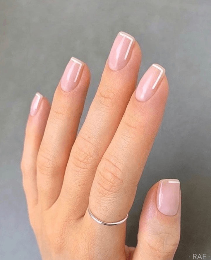 Modern French Manicure Nails