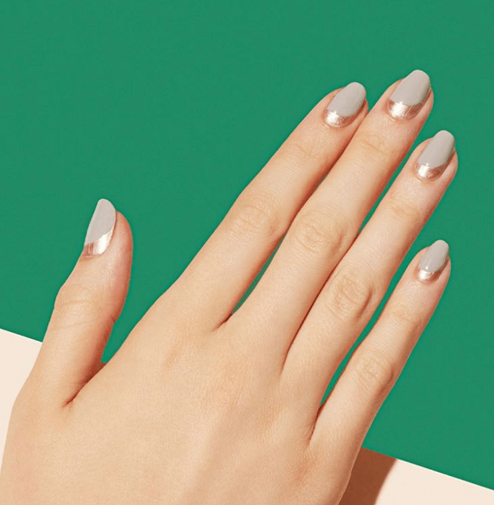 Reverse French Tip Nails Design