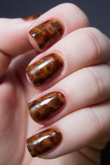 Nail art design Tortoiseshell