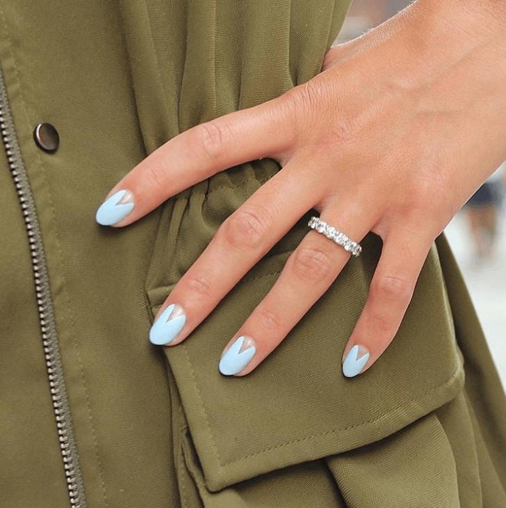 Triangle Cutout Nail Design IDEAS