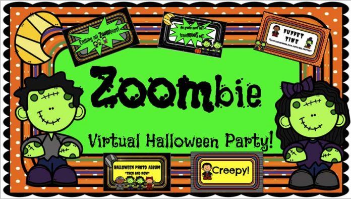 virtual Halloween party